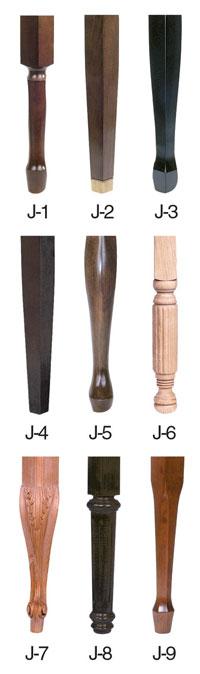 Bench Leg styles J series